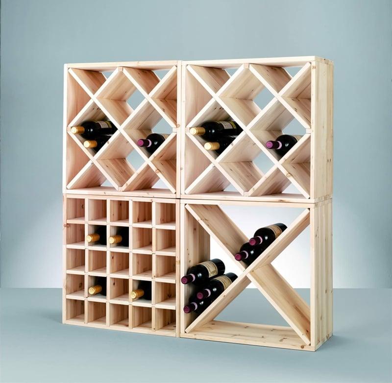 Weinflaschen lagern Regal bauen