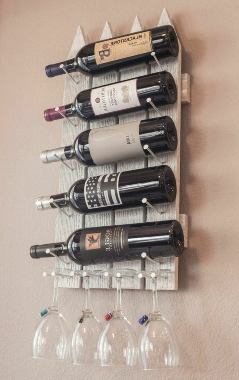 Weinregal für Wand originelle Ideen