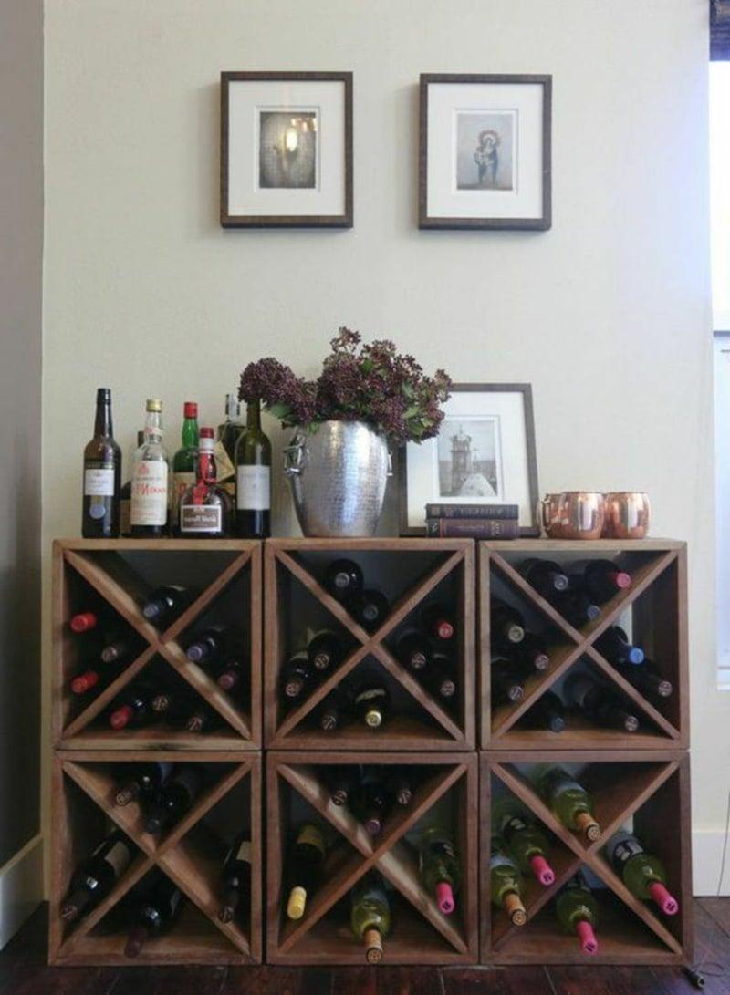 großes Weinregal selbstgebaut