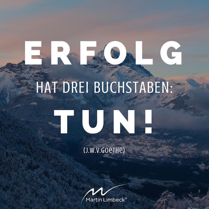 Motivationssprüche und Zitate Goethe