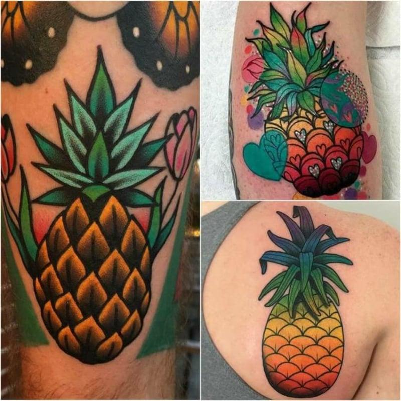 bunte Tattoos fröhlicher Look