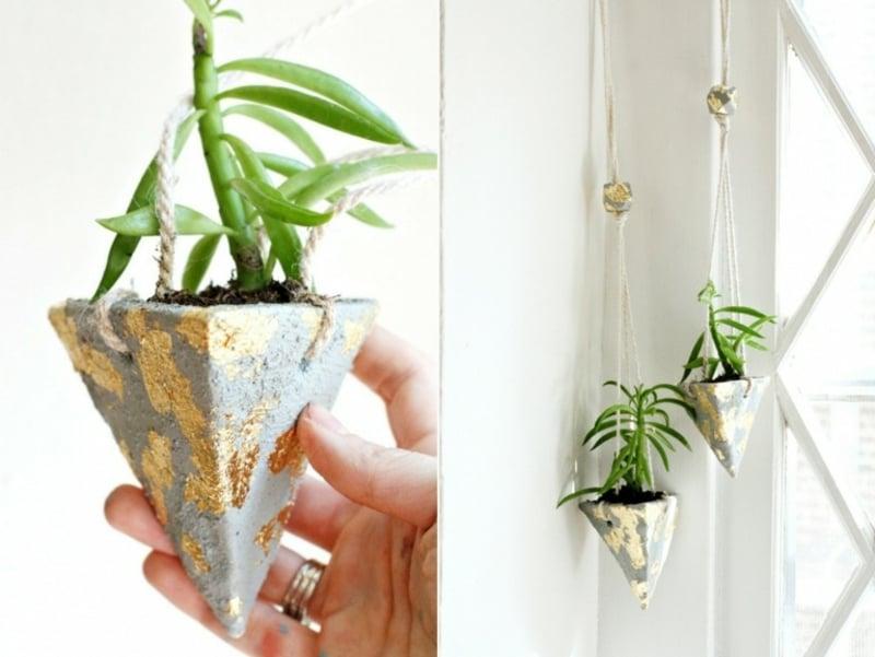 hängende Blumenbehälter wirklich stilvoll