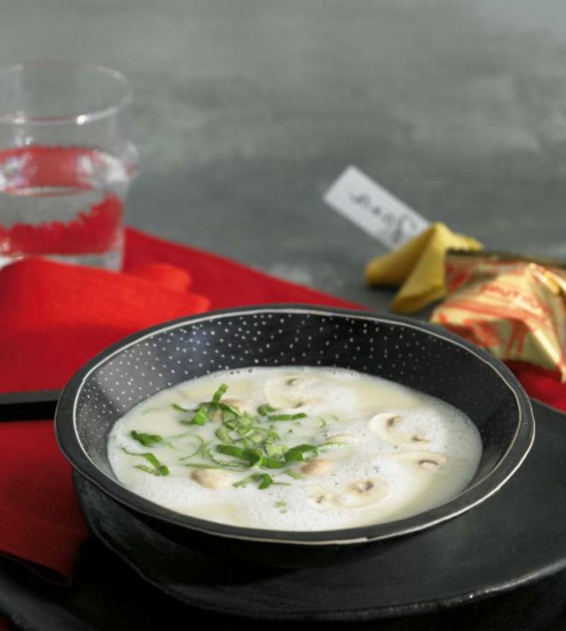 leckere Suppe mit Kokosmilch Mittagessen