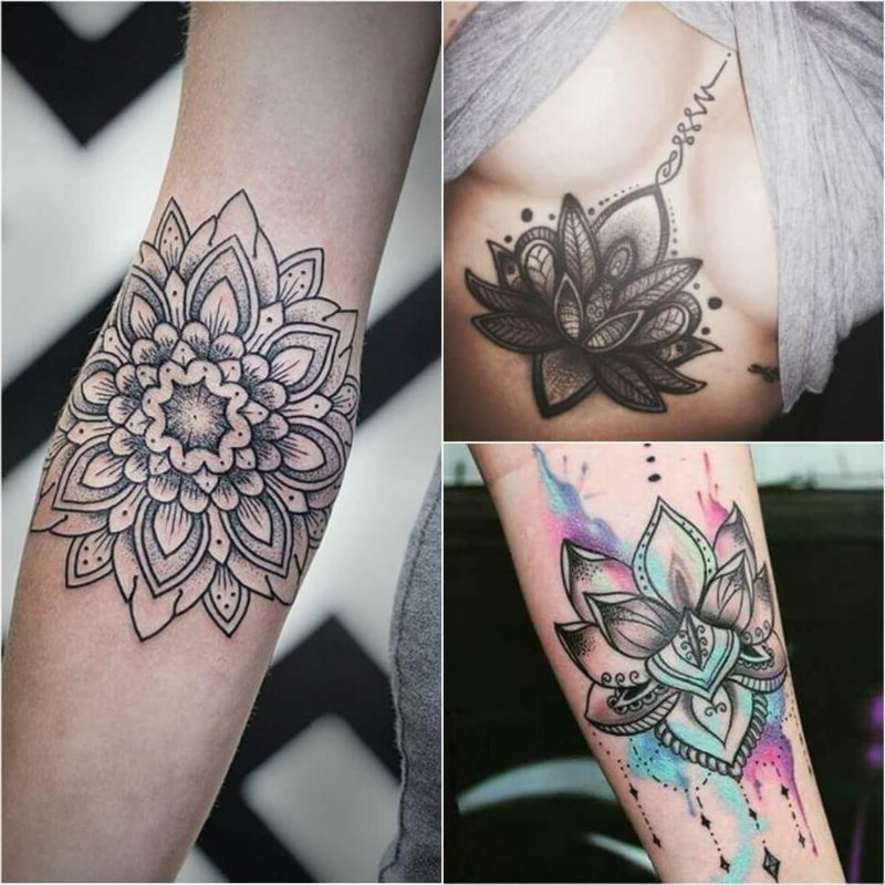 Tattoos Blumenmotive Lotusblume