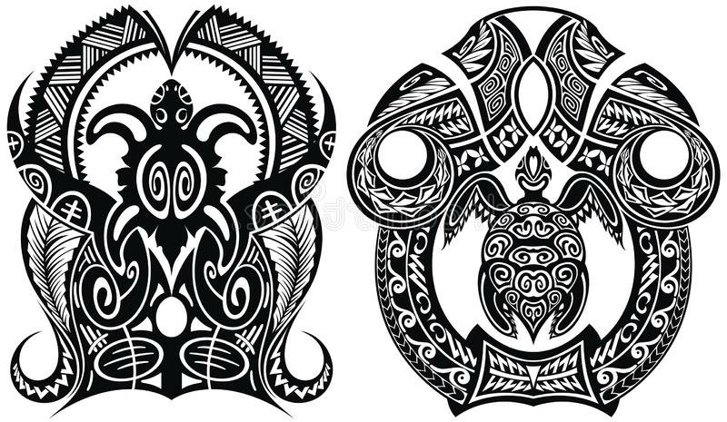 Turtle Tattoo polynesian tolle Maori Motive