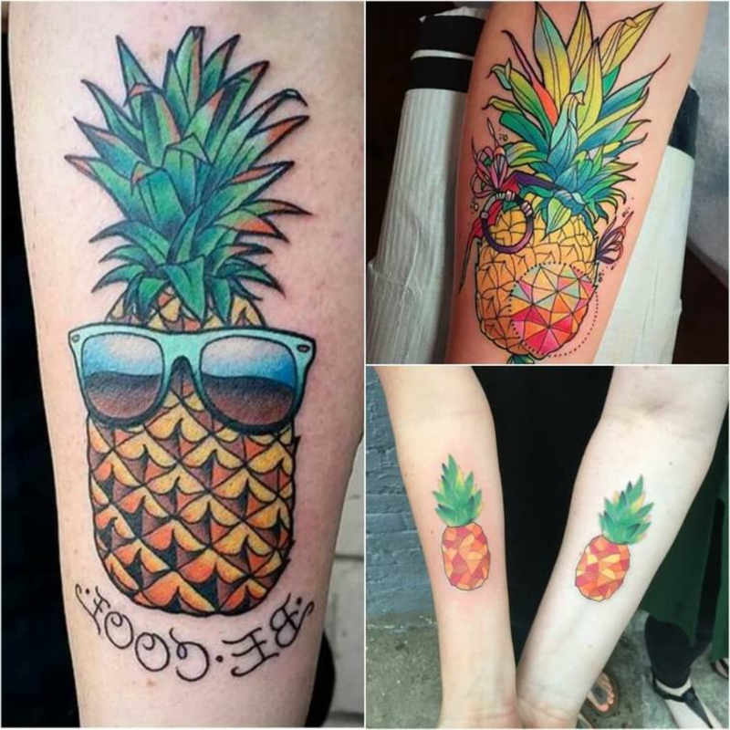 Ananas Tattoo Old School toller Look