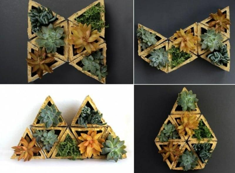 dekorative Pflanzenbehälter Dreieckform