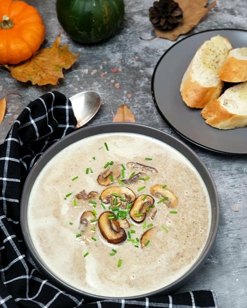 Kokosmilch Suppe mit Champignons Rezept