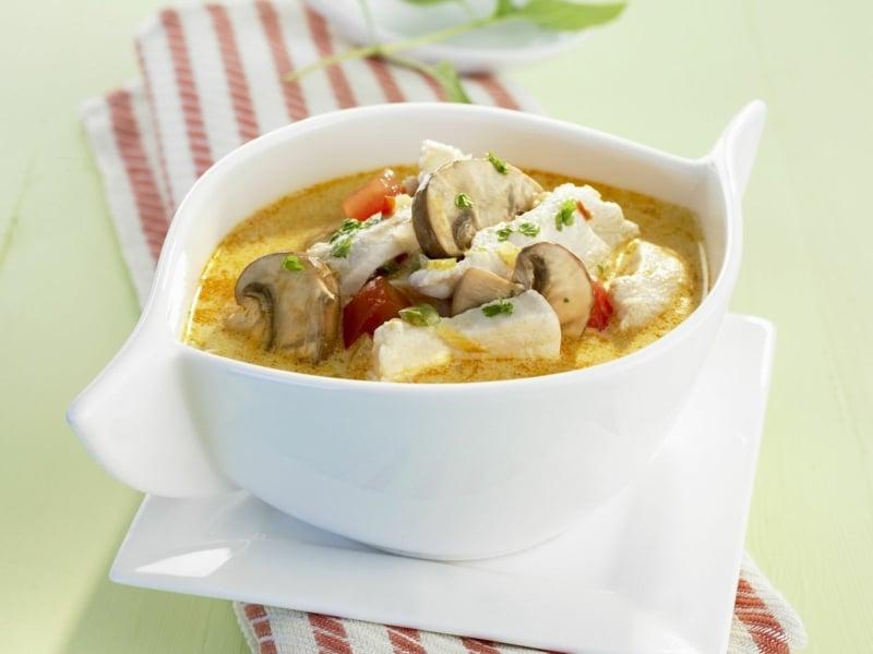 Suppe mit Champignons