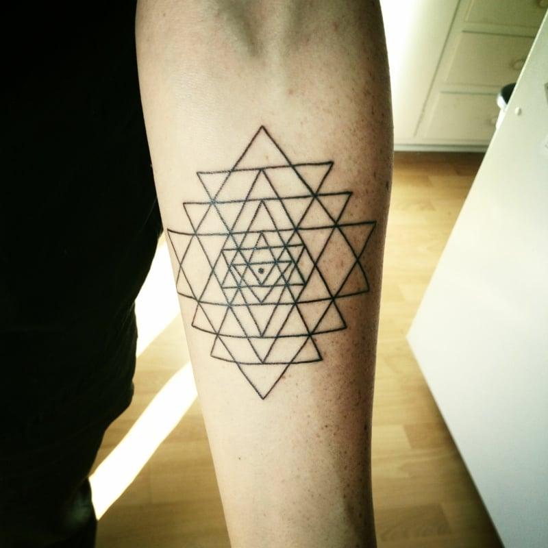 tattoomotiv Sri Yantra