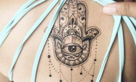 Buddhismus Tattoo Hamsa Hand