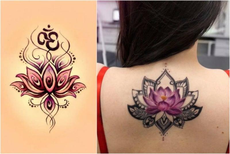 Lotusblüte Tätowierung Mädchen