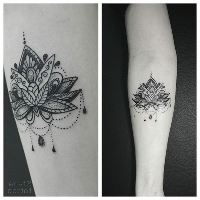 Lotus Tattoo Mandala originelle Designs Arm
