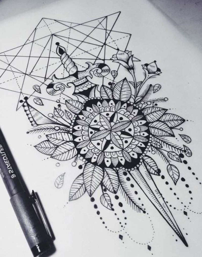 Mandala Motive herrlicher Look