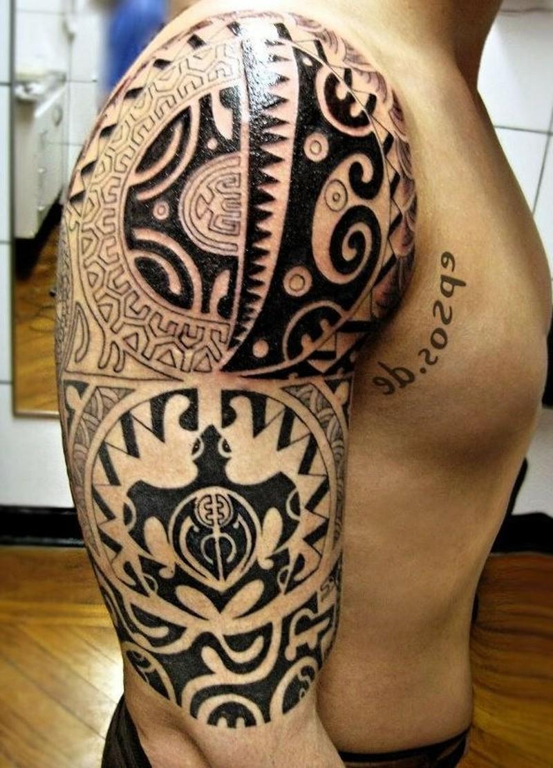 Maori Tattoos besonders kompliziert Mann