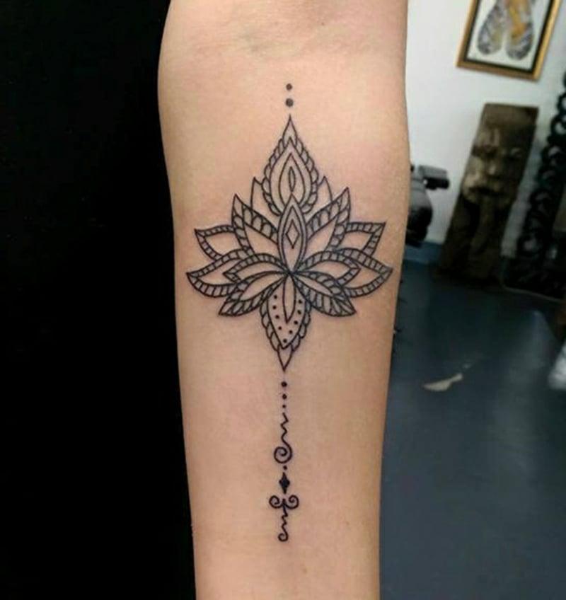 Lotus Tattoo Mandala herrlicher Look