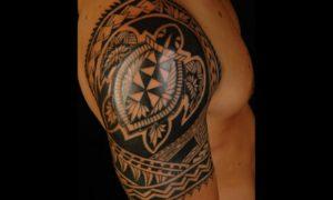 Turtle Tattoo polynesian coole Designs Mann
