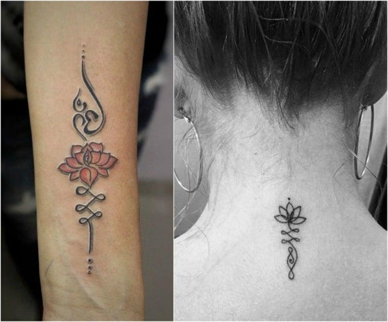 Buddhismus Tattoo Unalome