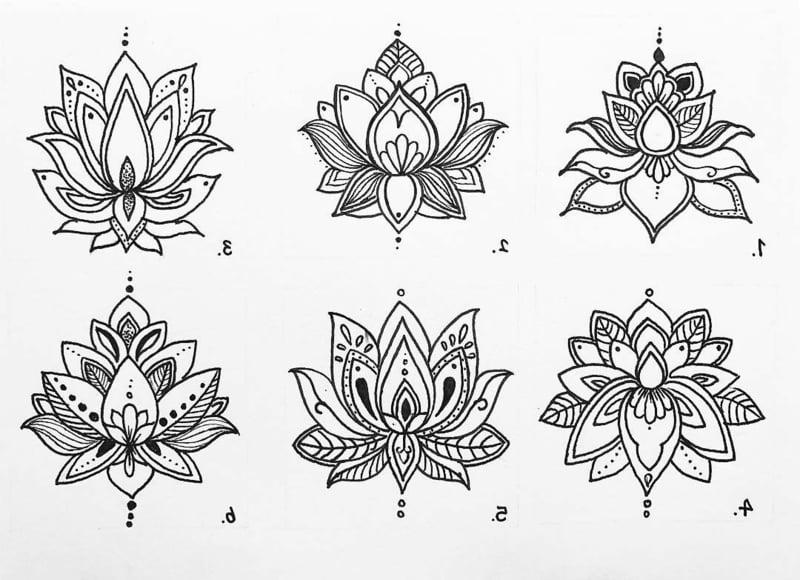 Lotus Tattoo Mandala tolle Vorlagen