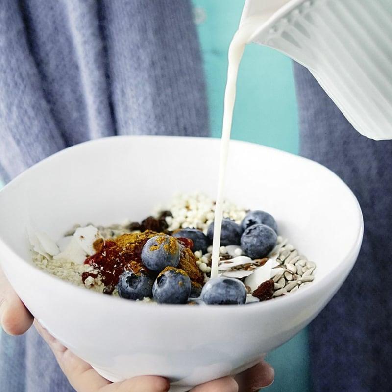 Müsli zu Frühstück Almased Pulver