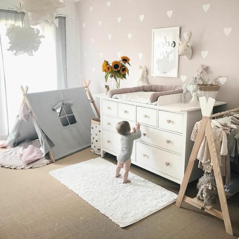 Wickelkommode Babyzimmer Zelt