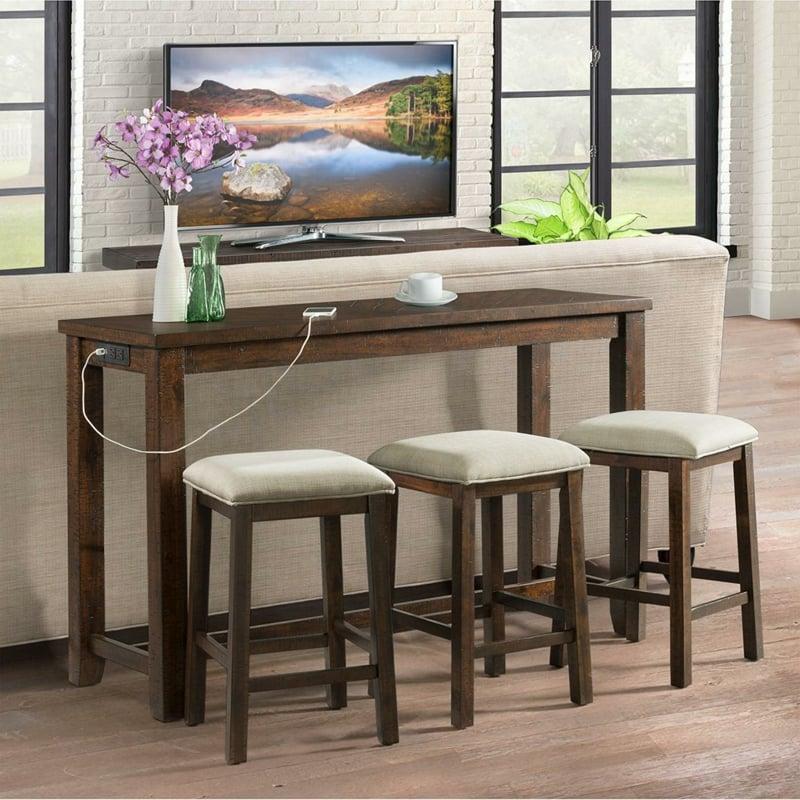 Bartisch mit Stühlen Wohnzimmer
