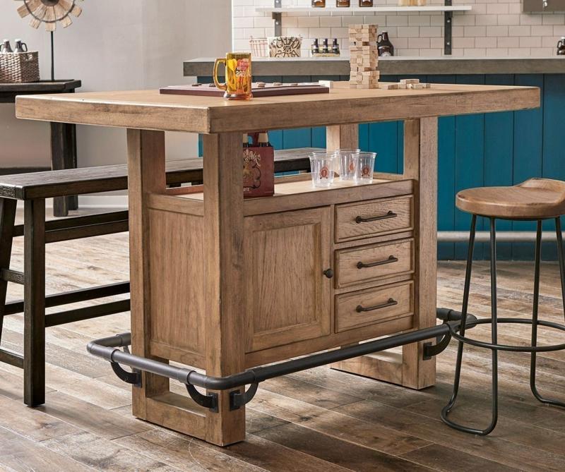 Holztisch rechteckig Kochinsel