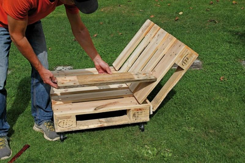 aus Europaletten Möbel bauen