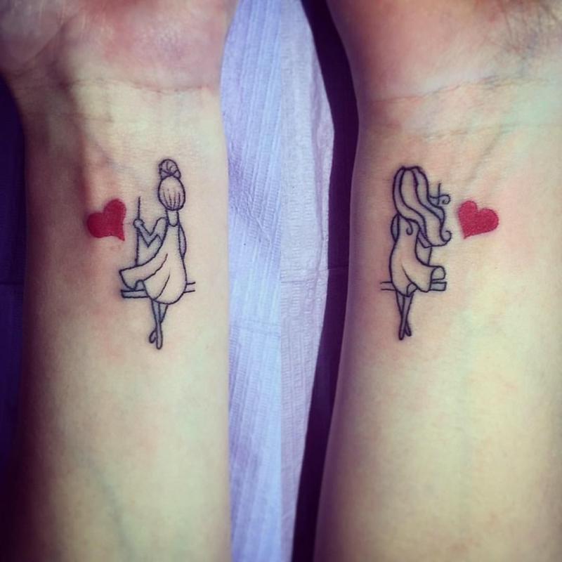 coole Tattoos beste Freundinnen