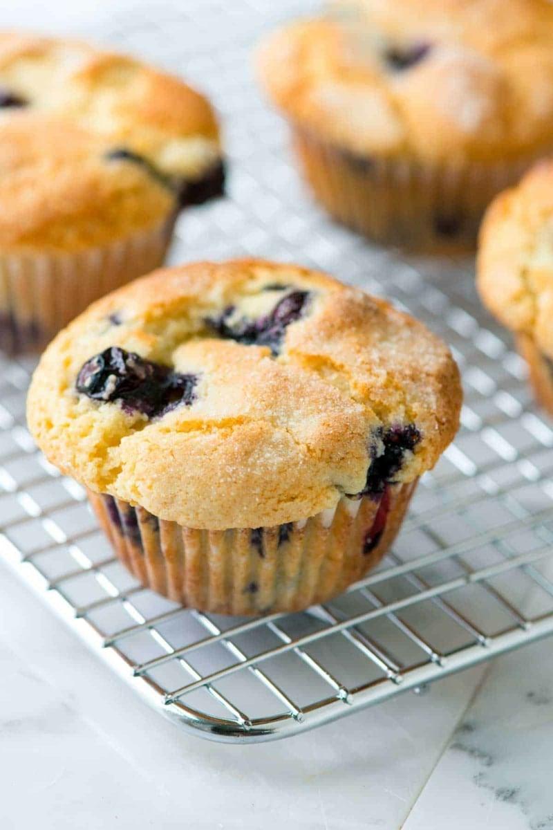 Muffins mit Blaubeeren Zubereitung