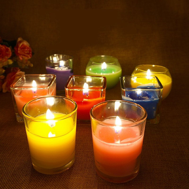 farbige Kerzen Wohlfühlatmosphäre