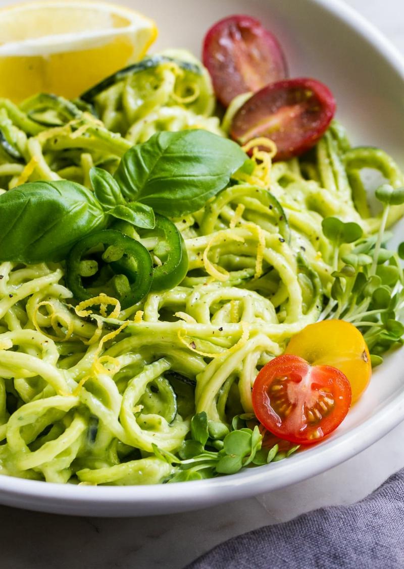 Zucchini Avocado Pasta Rezepte