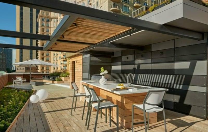 Dachterrasse mit Outdoor Küche