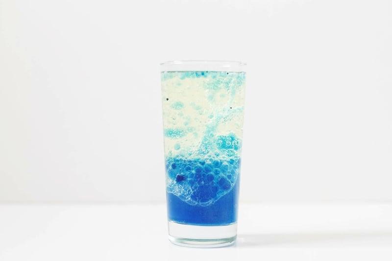 Lavalampe selber machen blau toller Look