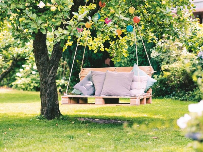Gartenschaukel selber bauen