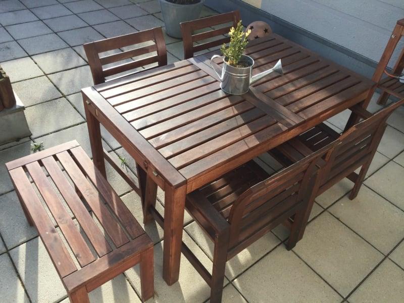 IKEA Gartenmöbel für einen Essplatz im Freien