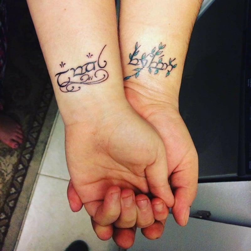 Tattoos für Ehepartner Hochzeit