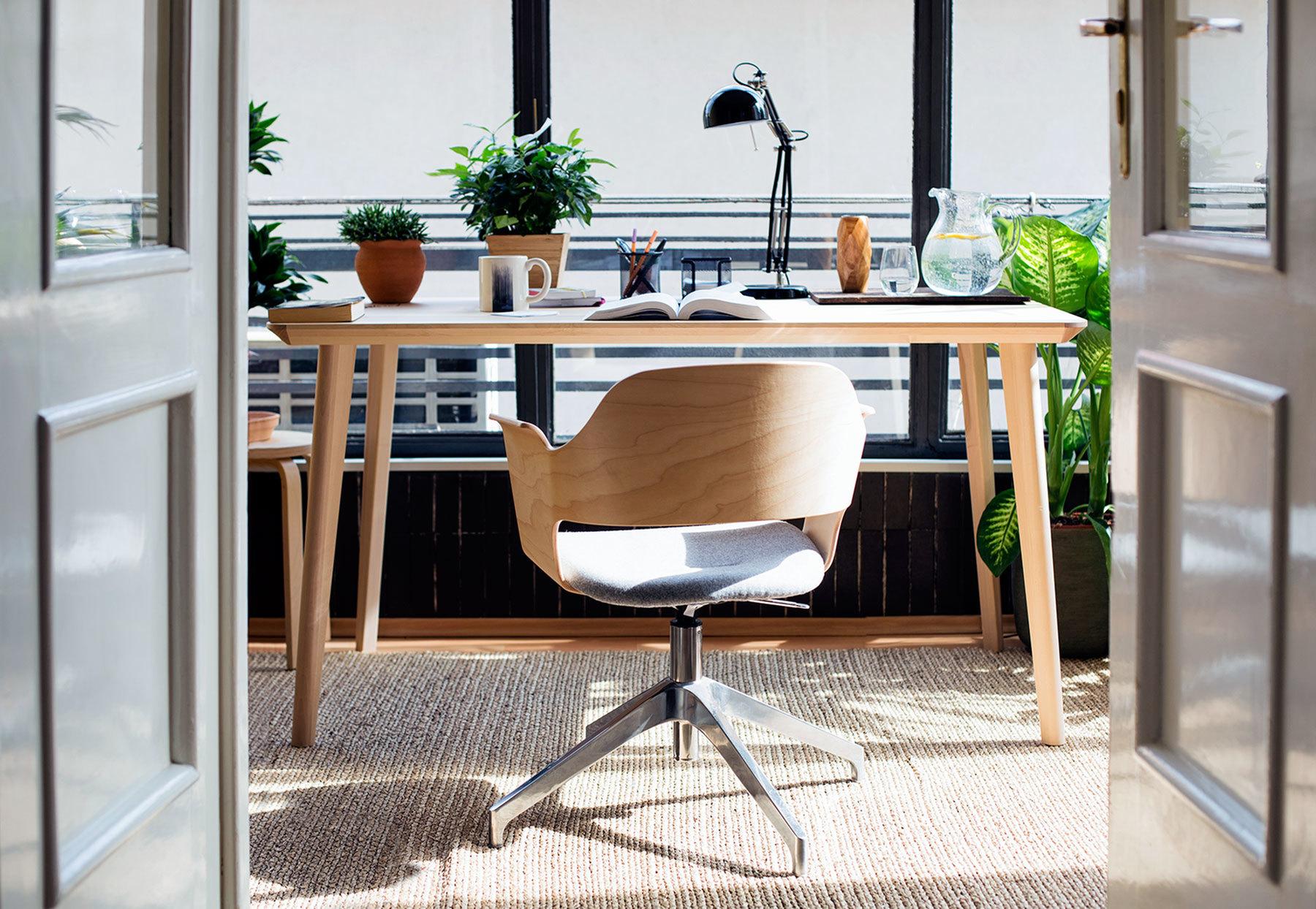 Home-Office Einrichtung im Skandinavischen Stil