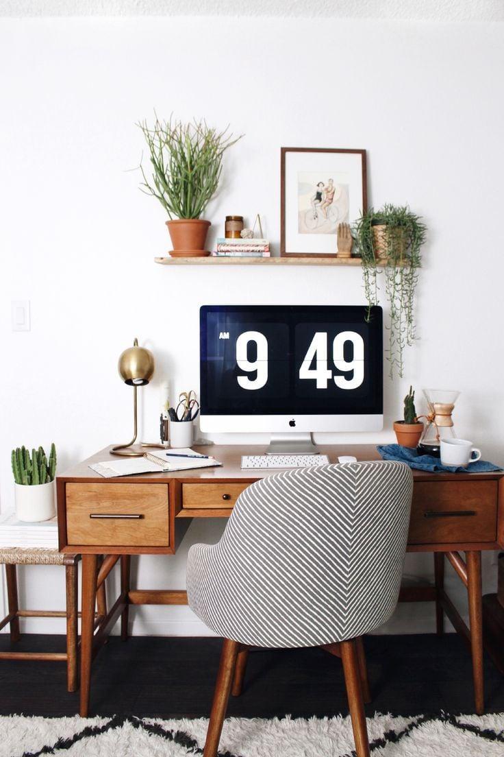 Wählen Sie die passenden Pflanzen und Accessoires für Ihr Home-Office!