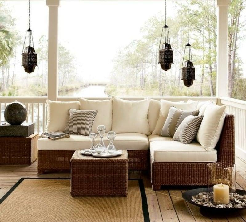 Terrasse modern einrichten IKEA Gartenmöbel