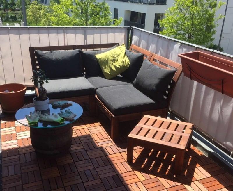 IKEA Gartenmöbel Sofa Kaffeetisch