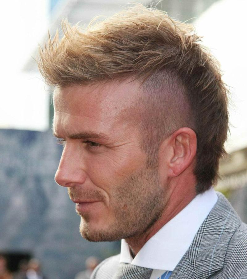 Irokese Männer Frisur David Beckham
