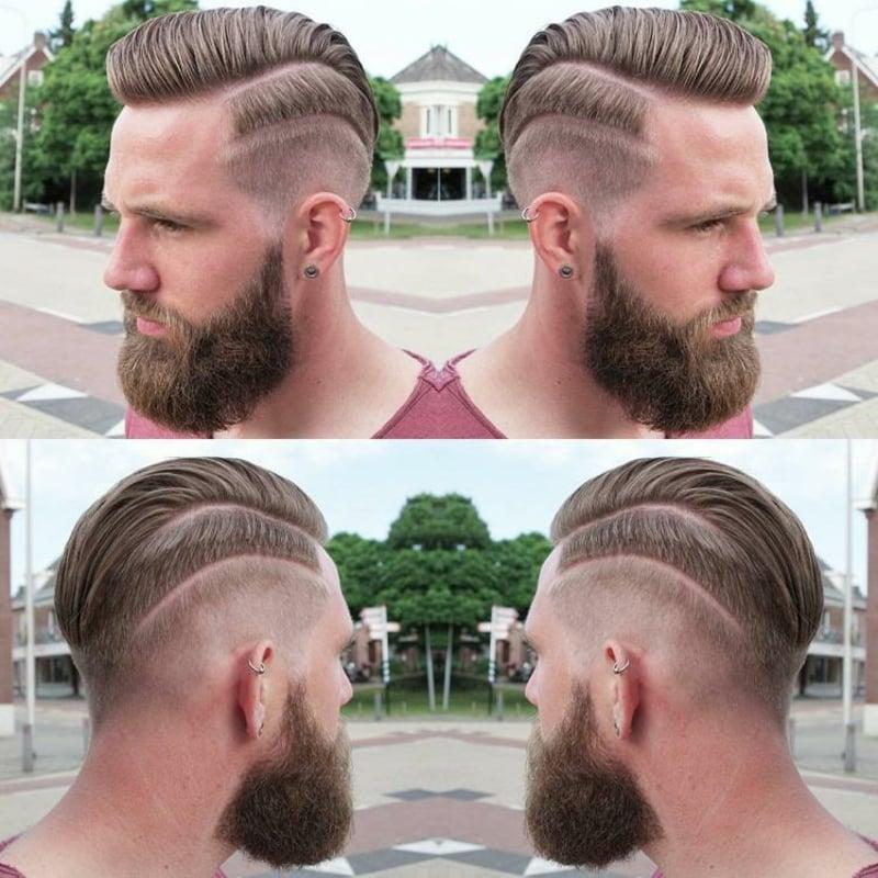 Irokesenschnitt mit Bart und Tolle