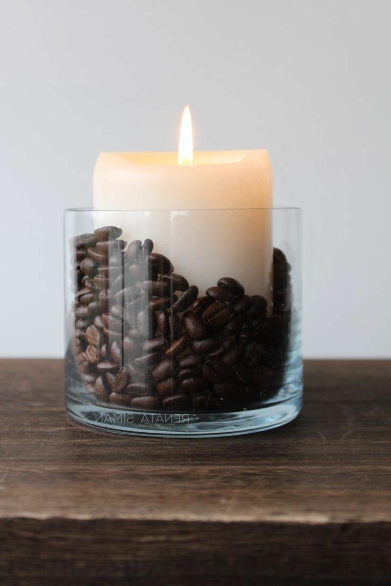 Kerze mit Kaffeebohnen wunderbar aromatisch