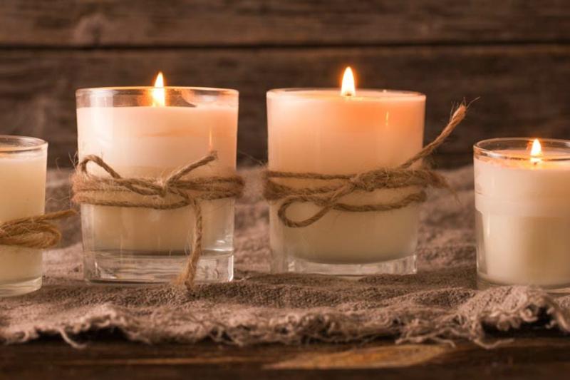 große aromatische Kerzen selbstgemacht
