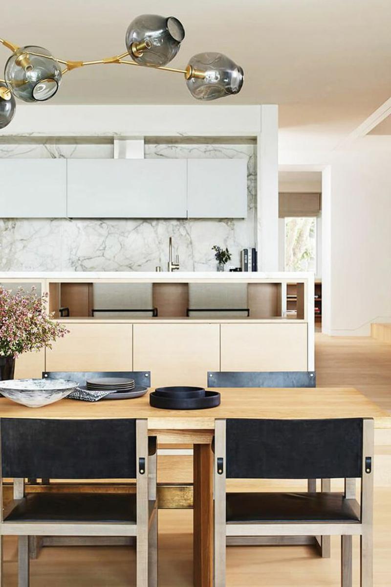 Küche im japanischen Stil weiß beige