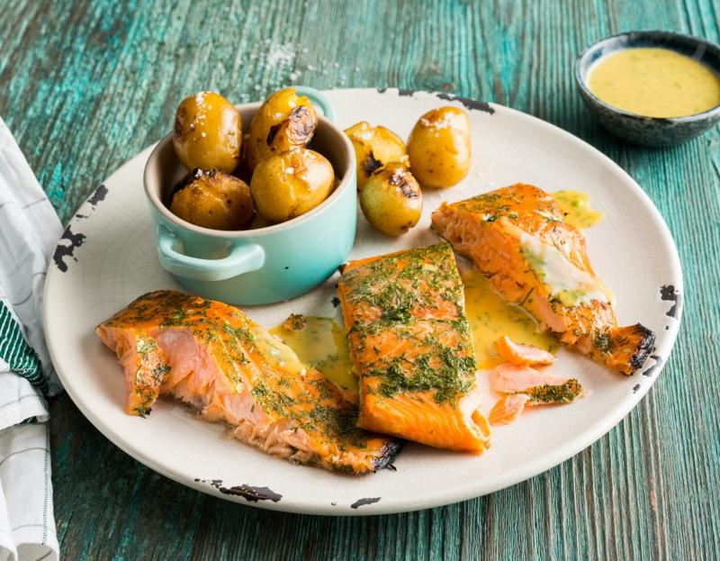 Lachs Rezepte gedämpft mit Kartoffeln