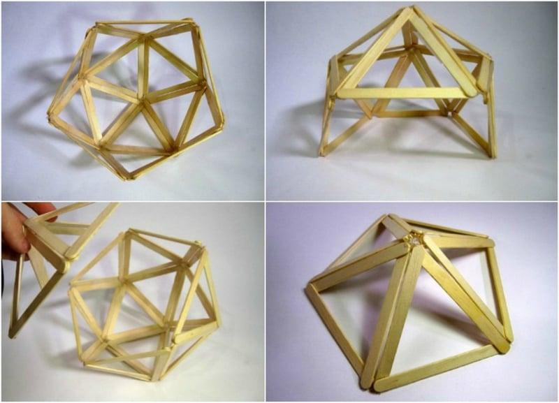 mit Eisstilen geometrische Formen gestalten