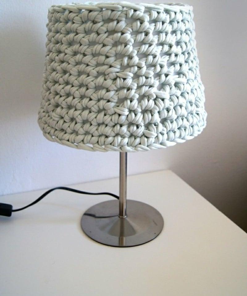 Tischlampe Lampenschirm häkeln