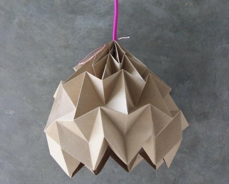 Origami falten Karton Lampenschirm